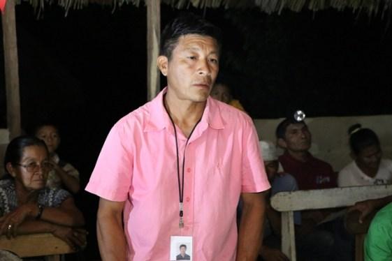 Toshao of Yurong Paru, Shevnarine Cyprian.
