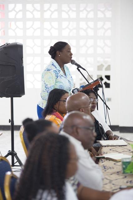 Minister of Education Dr. Nicolette Henry.