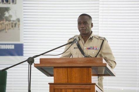 Commissioner of Police, Leslie James, DSS, DSM.