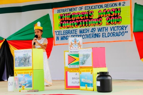 """Kaylee DaSilva of Charity Primary School won first place with her Calypso titled """"A Bright Future"""" in the Calypso 5 to 7 Category."""