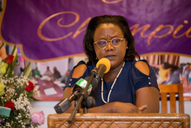 Minister within the Ministry of Natural Resources, Simona Broomes