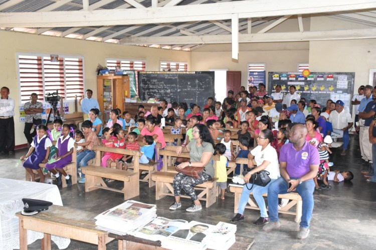 Residents at the meeting at the Kaicumbay Primary School