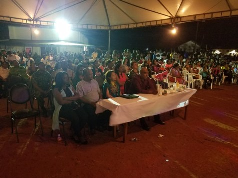 Minister Dawn Hastings-Williams enjoys the cultural programme during Lethem's 49th Republic Anniversary celebration.
