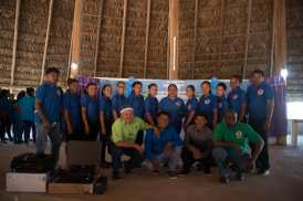 Minister of Indigenous Peoples' Affairs, Sydney Allicock, the two brothers along with students enrolled