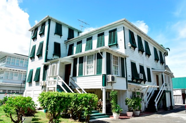 The building to be named 'Valerie Rodway House' located at 94 Carmichael Street, Georgetown.