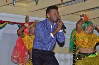 Bunty Singh entertaining the crowd.