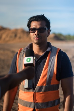 Senior Environmental Engineer with the Ministry of Communities, Satrohan Nauth speaking to the Department of Public Information (DPI).