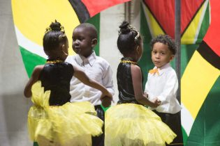 Young performers from the High Achievers Nursery School