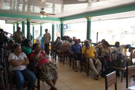 A section of the audience at the Open Day hosted by Minister within the Minister of Natural Resources, Simona Broomes.