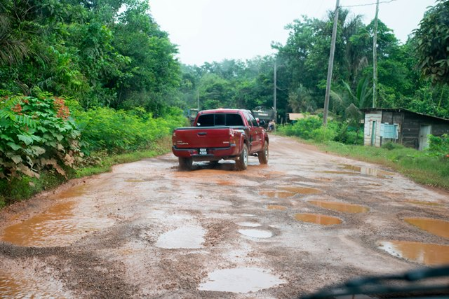 A section of Mahdia's roadway from the airstrip.