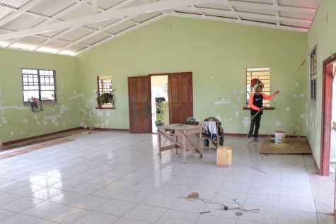 The Achiwib Primary School currently undergoing remedial work