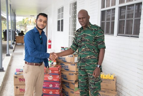 Civil Defence Commission (CDC) Director-General (ag), Lieutenant Colonel Kester Craig, and Sales and Marketing Manager, Atlantic Southern Trades Inc., Joseph Messiah.