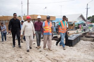 Prime Minister, Moses Nagamootoo tours the rehabilitation site