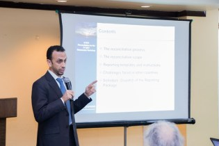 GYEITI Independent Administrator from BDO LLP, a United Kingdom firm, Rached Maalej during his presentation.
