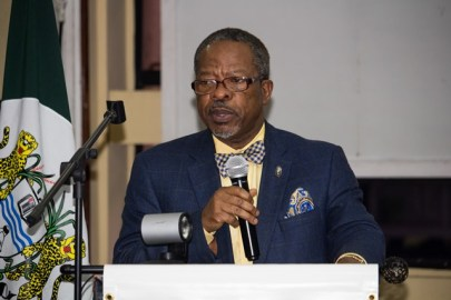 Vice Chancellor, University of Guyana, Professor Ivelaw Griffith.