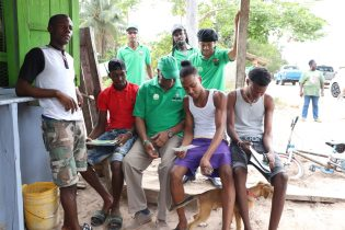 Minister of State, Joseph Harmon engaging youths of Linden