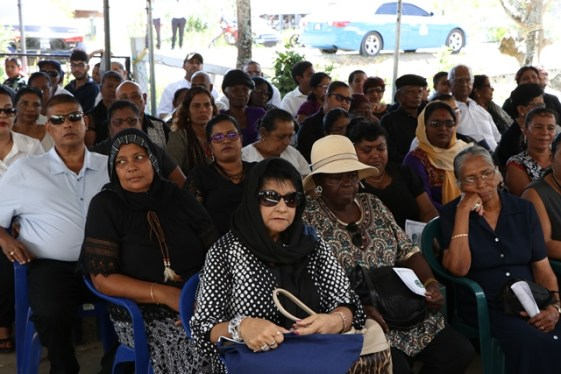 Attendees at the funeral.