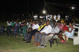 A section of the crowd at Kwakwani's Flag Raising ceremony.