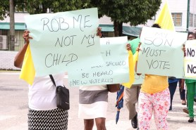 Some of the placards at the picketing exercise.