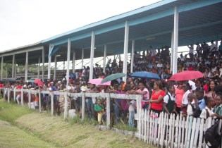 A section of yesterday's crowd at the Blairmont Community Centre Ground.