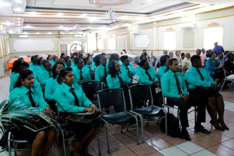 Cadets at the first day of orientation today (Ministry of Education photo)