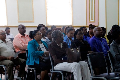 Ministry of Education officials and Regional Officers in attendance at the orientation exercise (Ministry of Education photo)