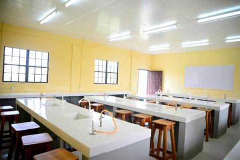 The lab facility at Woodley Park Secondary.