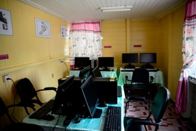 The Information Technology Lab at the New Amsterdam Primary school.