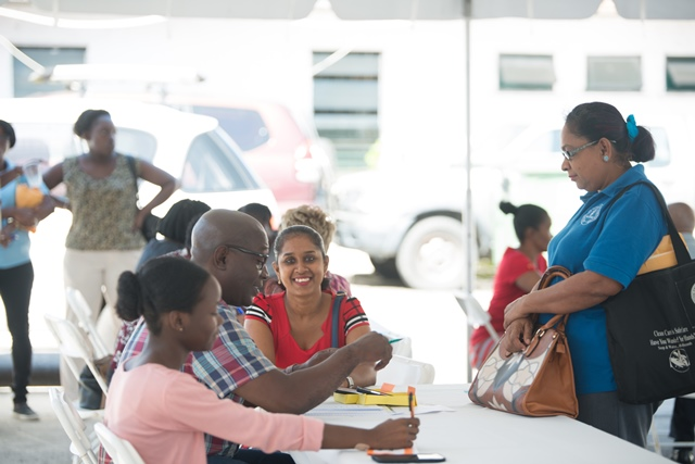 Scenes from the ministry's meet the public day.