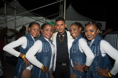 Stephen Ramplal and his back-up dancers.