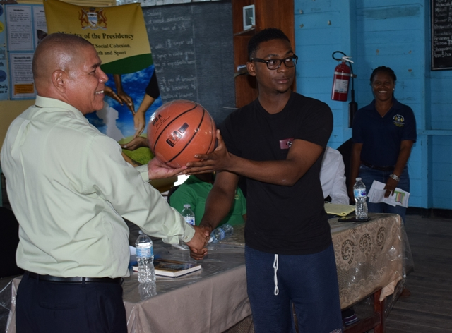 A basketball for a member of the Club.