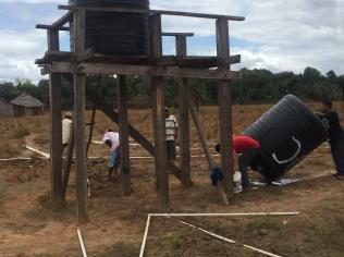 Installation of new storage tank at Marakanata.