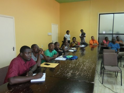 A section of the audience where stake holders met to discuss development for youths and sports in Region Ten.