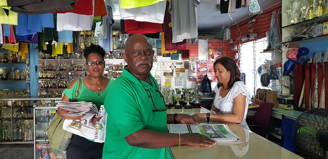 Minister of Citizenship, Winston Felix at Trophy World on Bourda Street.