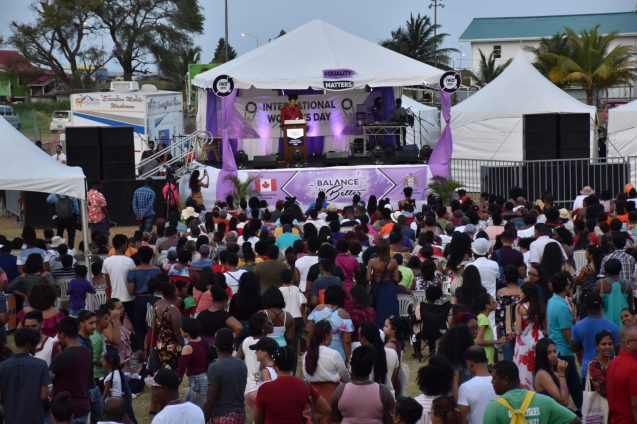A section of the crowd during Sunday's activities