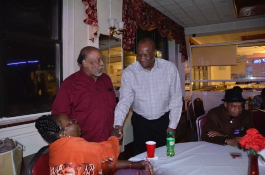 Minister of State, Mr. Joseph Harmon interacts with members of the Guyanese diaspora at The Linden Fund's fundraising dinner in New York