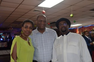 (From left) Ms. Paula Walcott, President of The Linden Fund, Minister of State, Mr. Joseph Harmon and Mr. Keith Semple, Vice President of the Linden Fund organisation