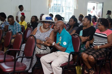 Residents of Albouystown at the discussion on oil and gas sector