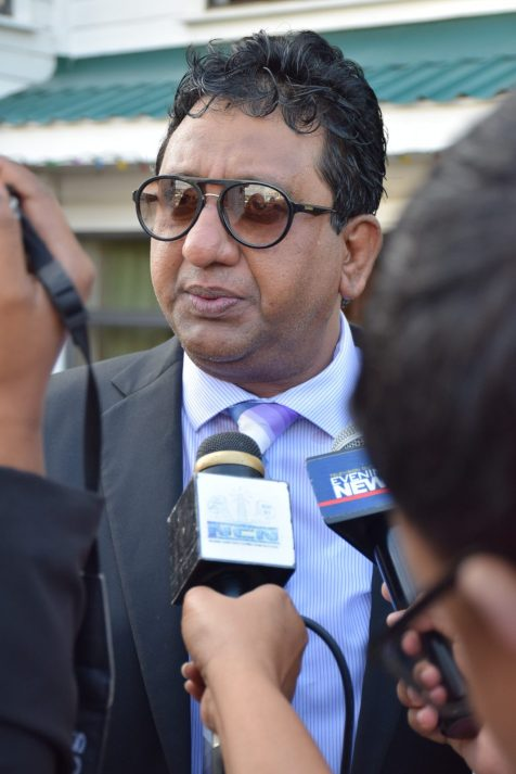 Representing the leader of the opposition, Attorney-at-law Anil Nandlall
