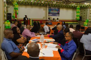 Prosecutors and magistrates at the Discussion on the Prosecution of Trafficking in Persons Cases in Guyana