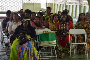Persons decked out in their African outfits in observance of Ghana Day