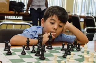 Young Jacob McDonald contemplating his next move.