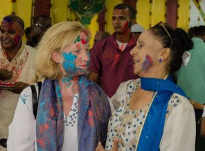 U.S. Ambassador to Guyana, Sarah-Ann Lynch was among the guests at the State House on Sunday for Phagwah Celebrations