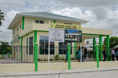 The new Guyana Lands and Surveys building