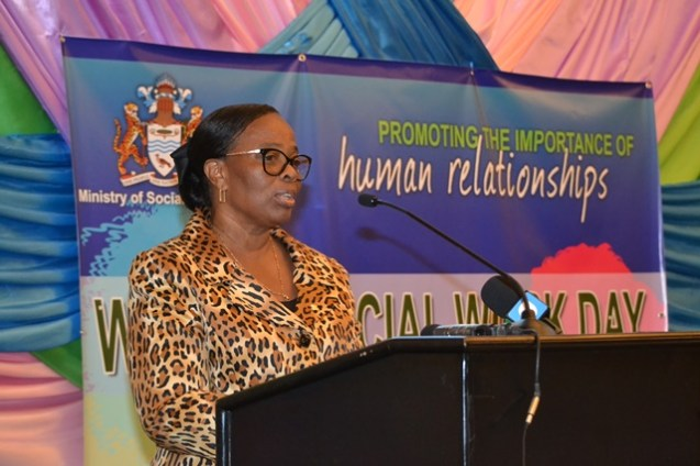 Ministry of Social Protection, Permanent Secretary, Loraine Baird.