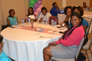 A Group of Social Workers posing for a picture at the Marriot Hotel.