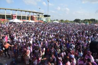 Scenes of Phagwah celebrations at the Providence National Stadium.