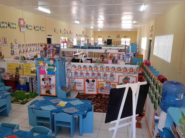 Inside Cotton Field Nursery School's first wing