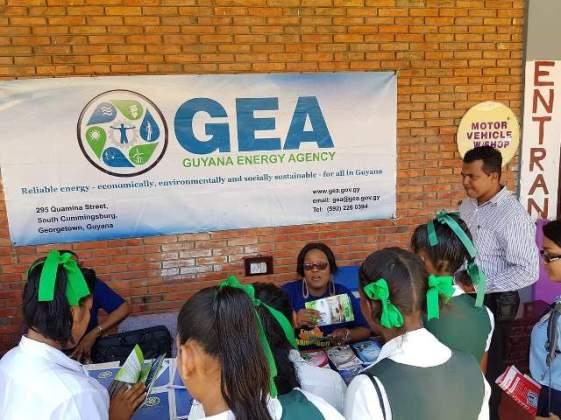 Guyana Energy Agency on display.