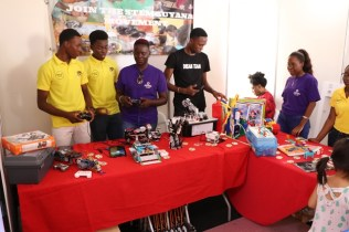 Stem Guyana booth at the expo.